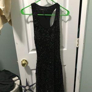 Black sequined maxi bcbg dress